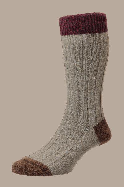 Scott Nichol - The Burghley Socken - Oatmeal Marl