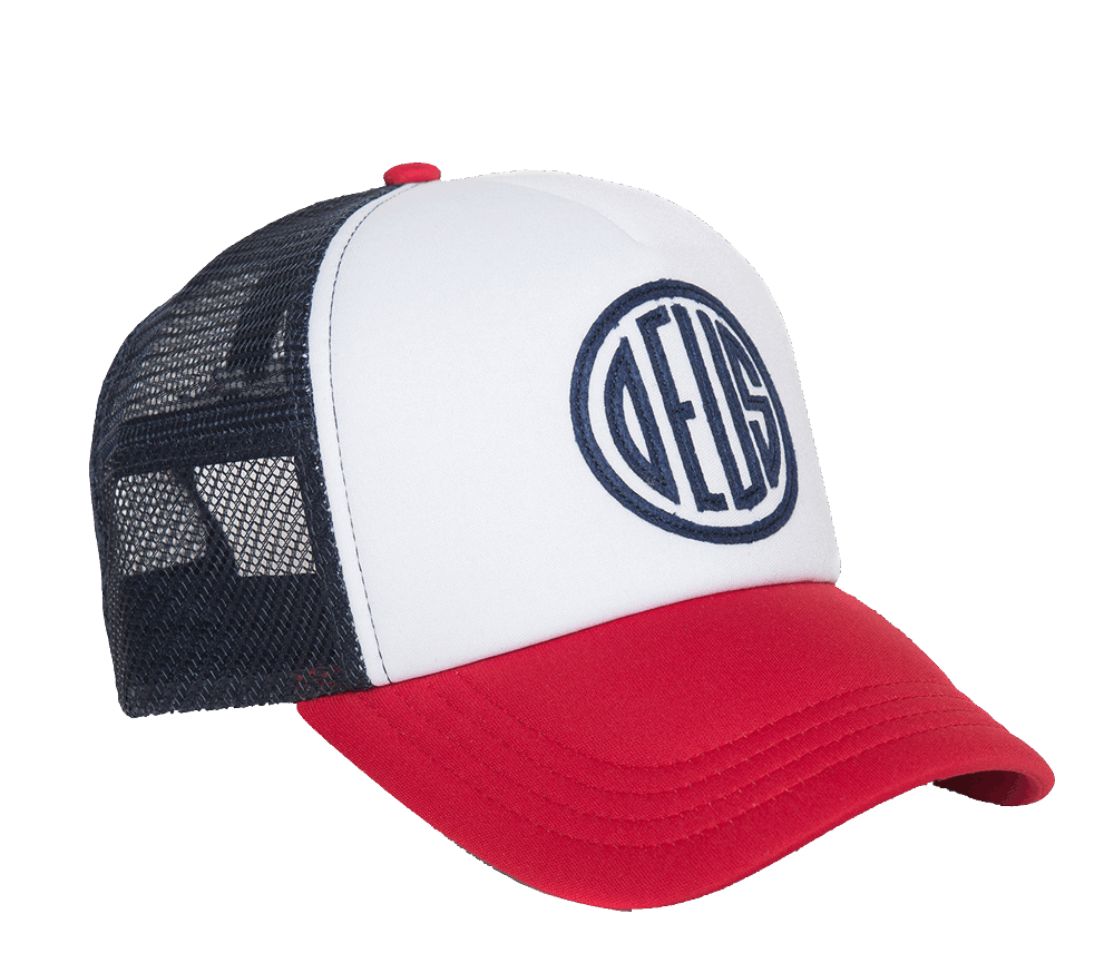 Deus Pill Trucker Cap White/Blue/Red