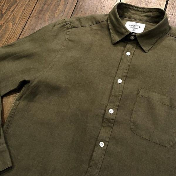 Portuguese Flannel Linen Shirt - Olive