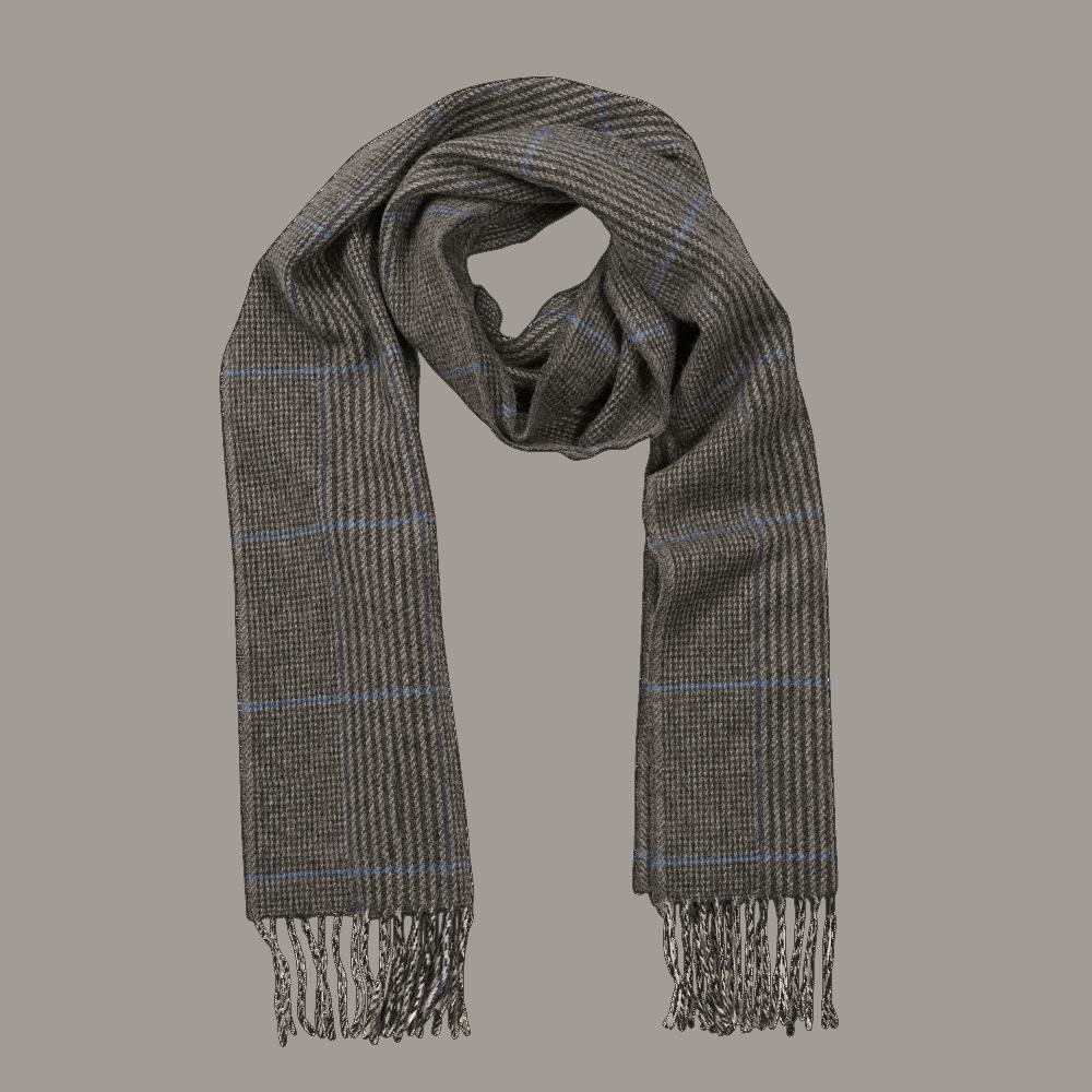 John Hanly Irish Wool Scarf - Denim