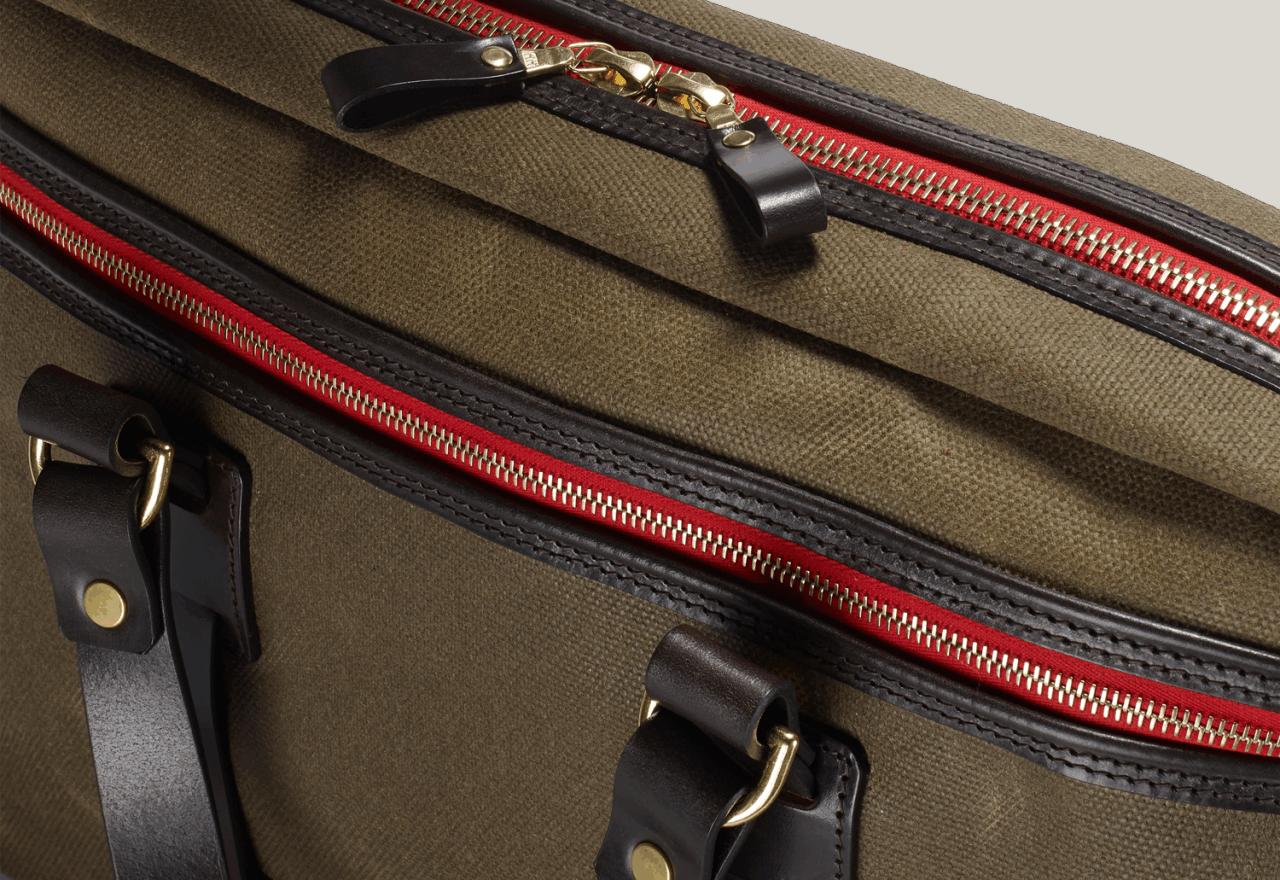 Croots Vintage Waxed Laptop Bag - olive