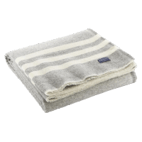 Faribault Trapper Blanket Gray / Natural 50x72 inch / 125x180cm