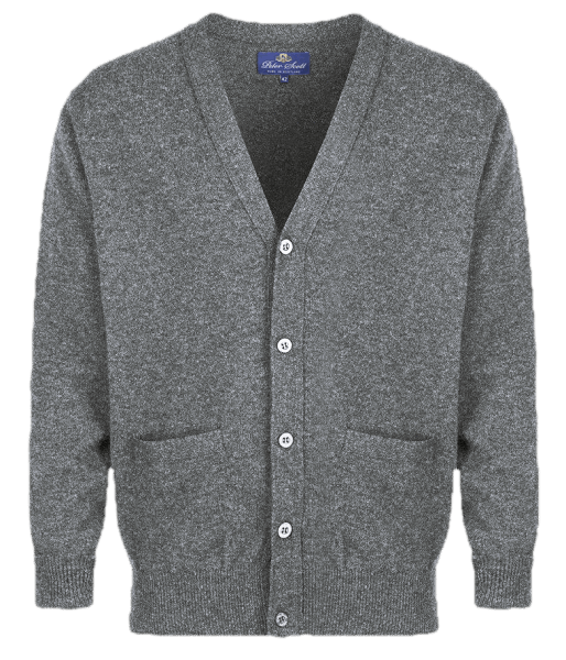 Peter Scott BRAEMAR Cardigan Mid Grey