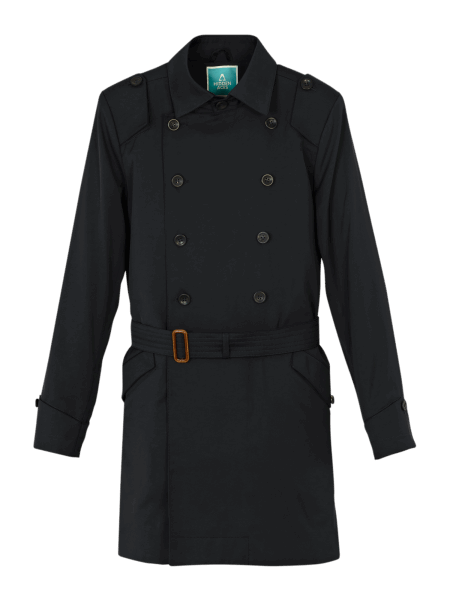 Hidden Aces Trenchcoat - navy