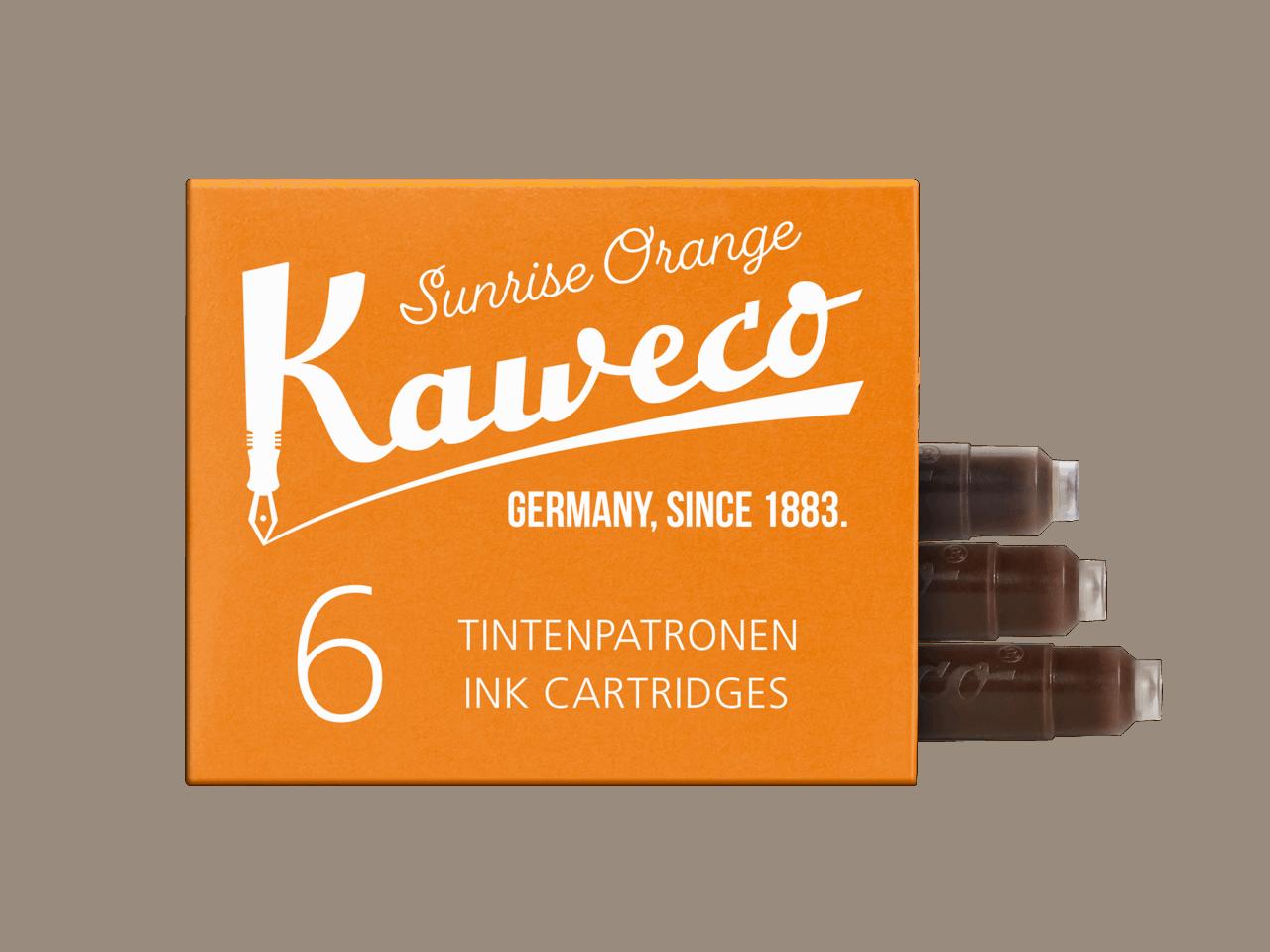 Kaweco Tintenpatronen 6 Stück - Sonnenschein Orange