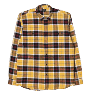 Edwin Labour LS Flannel Shirt - Yelow / black