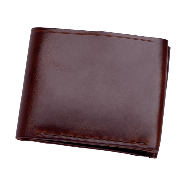 Coronado Leather Horsehide Coin Wallet Burgundy