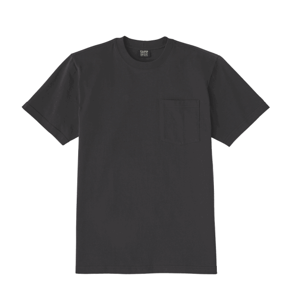 Filson Outfitter Solid One Pocket T-Shirt - faded black
