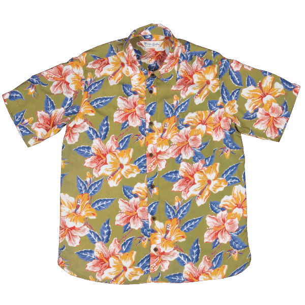 Pike Brothers Hawaii Shirt - Maohu green
