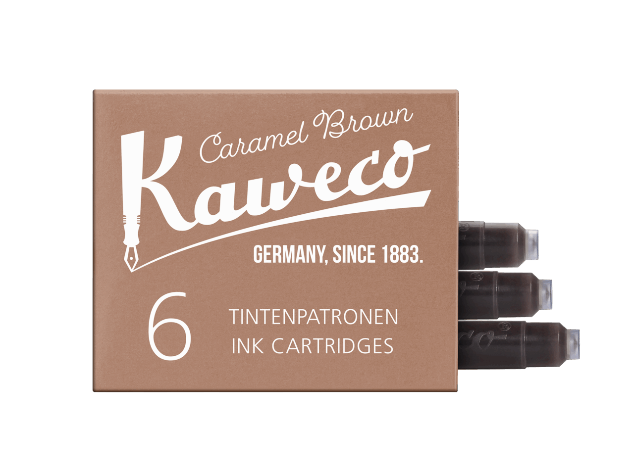 Kaweco Tintenpatronen 6 Stück - Karamel Braun