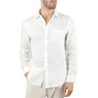 Portuguese Flannel Leinenshirt - White