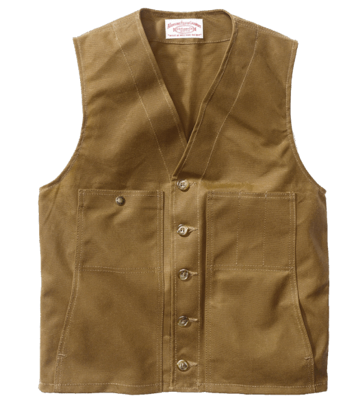 Filson Oil Tin Cloth Vest US - Dark Tan