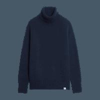 Merz b. Schwanen Turtleneck Pullover - dark navy