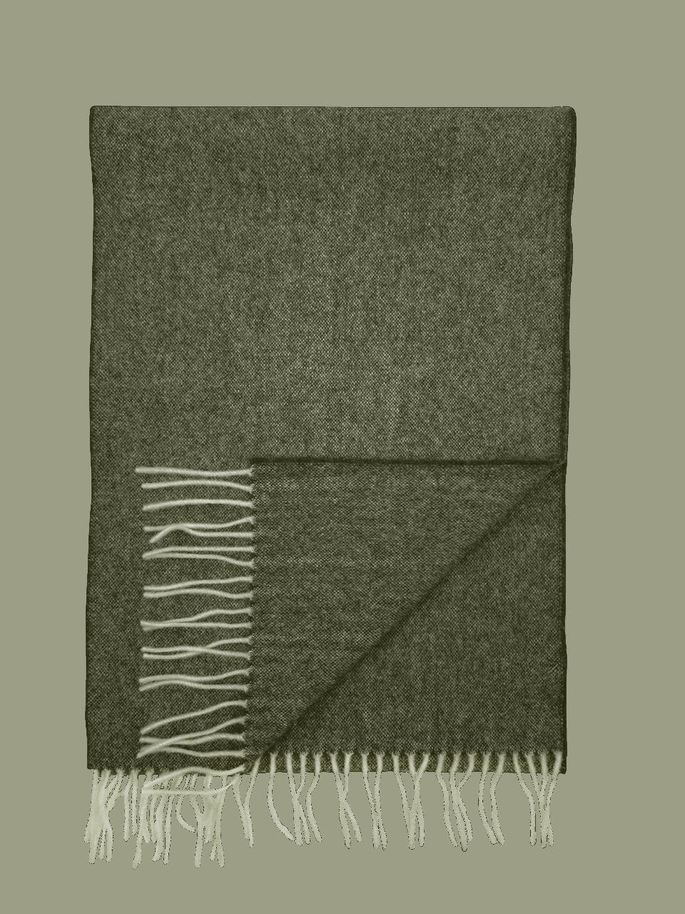 John Hanly Irish Wool Schal - Loden / Cream