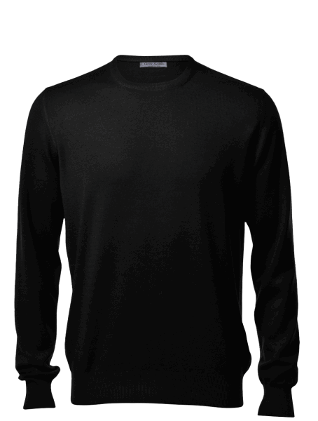 Gran Sasso crew-neck, black