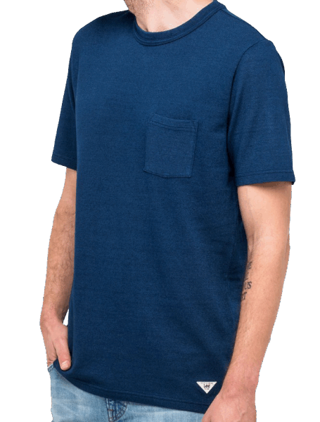 LEE Authentic Pocket Tee - indigo