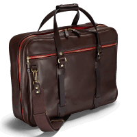 Croots Vintage Leather Flight Bag - dark brown