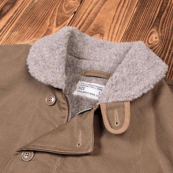 Pike Brothers 1944 N1-Deck Jacket khaki gray waxed