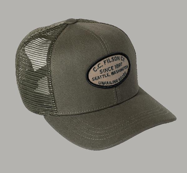 Filson Buckshot Twill Mesh Cap - ottergreen