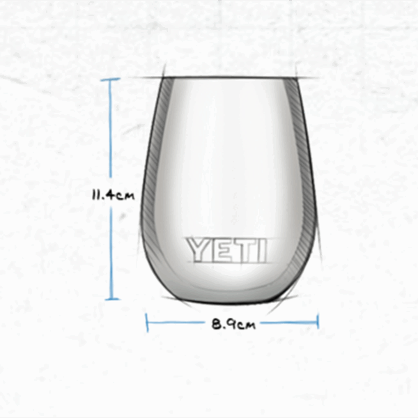 YETI Rambler Wine Tumbler - steel