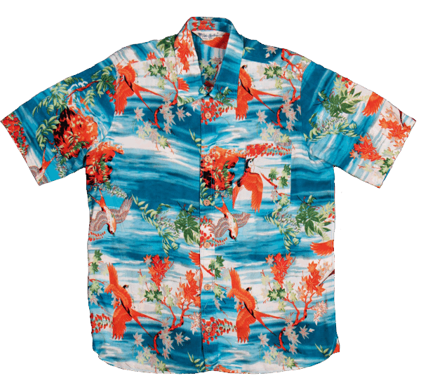 Pike Brothers Hawaii Shirt - Miyamato blue
