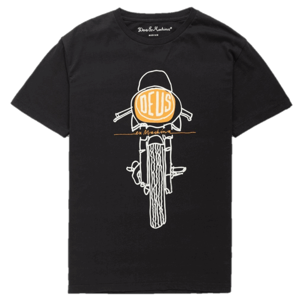 Deus Frontal Matchless Tee - black