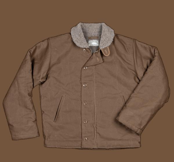 Pike Brothers 1944 N1-Deck Jacket waxed khaki