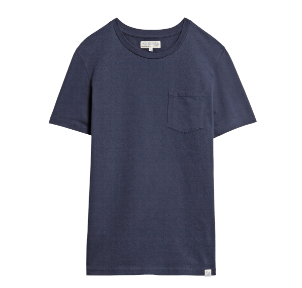 Merz b. Schwanen Basic Pocket T-Shirt - Deep Blue