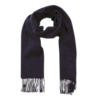 John Hanly Irish Wool Scarf - Navy