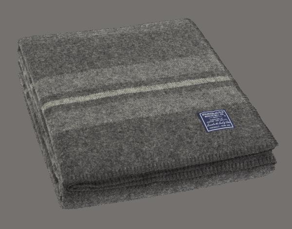 Faribault Cabin Blanket Charcoal 66x96 inch / 165x240cm