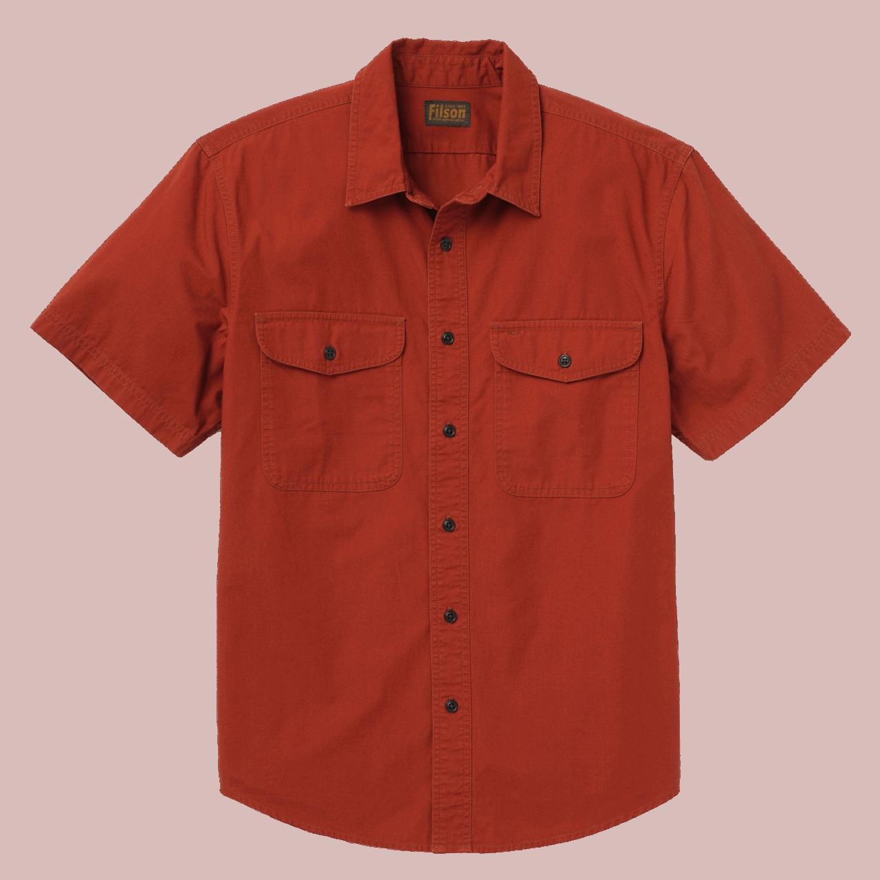 Filson Short Sleeve Field Shirt - red