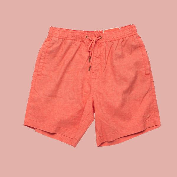 Deus Sandbar Hemp Mesh Shorts - Coral Orange