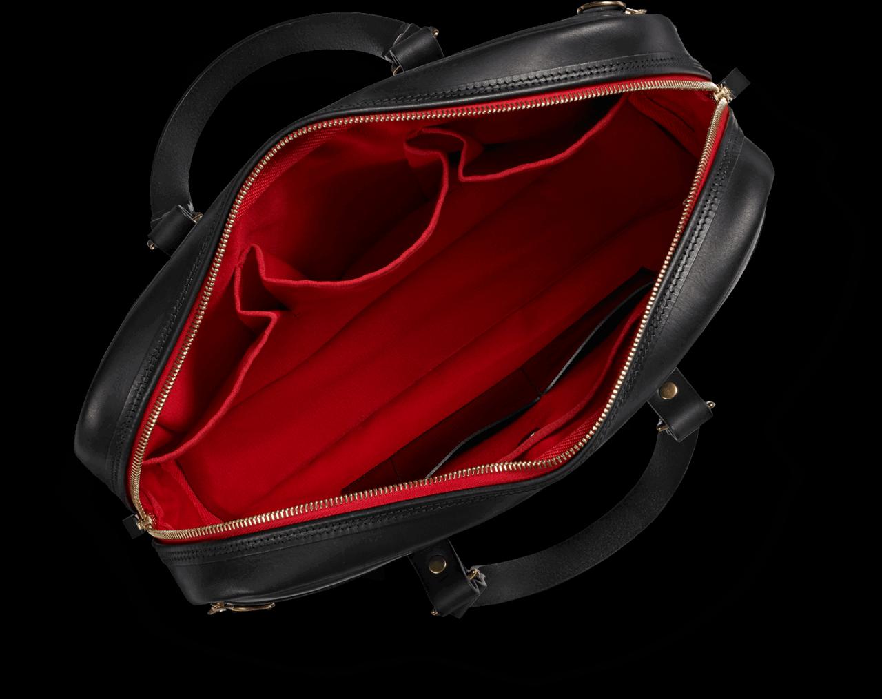 Croots Vintage Leather Laptop Bag - black