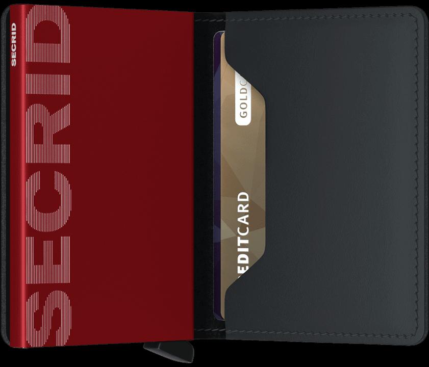 Secrid Slimwallet - Matte - schwarz/rot