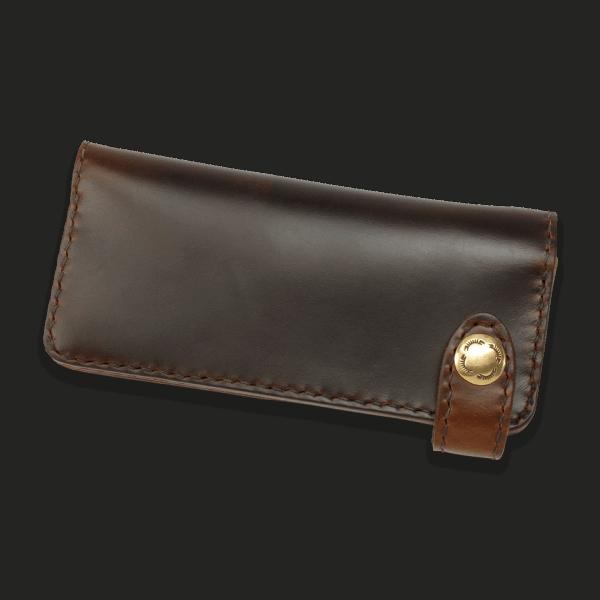 Coronado Leather HH9 BRN Long Snap Wallet Brown