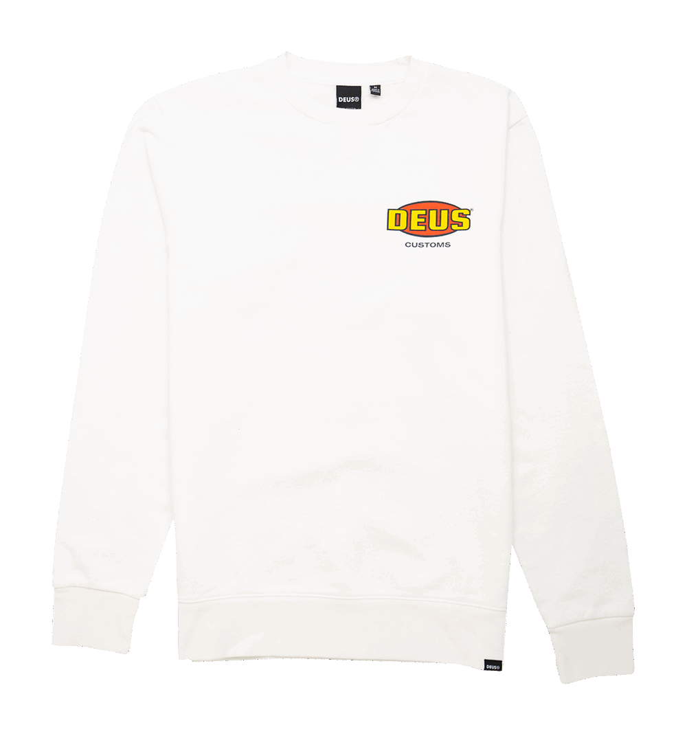 Deus Chop Shop Crew - vintage white