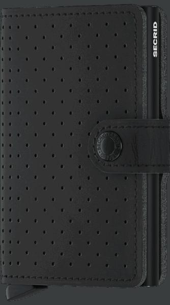Secrid Miniwallet - Perforated - schwarz