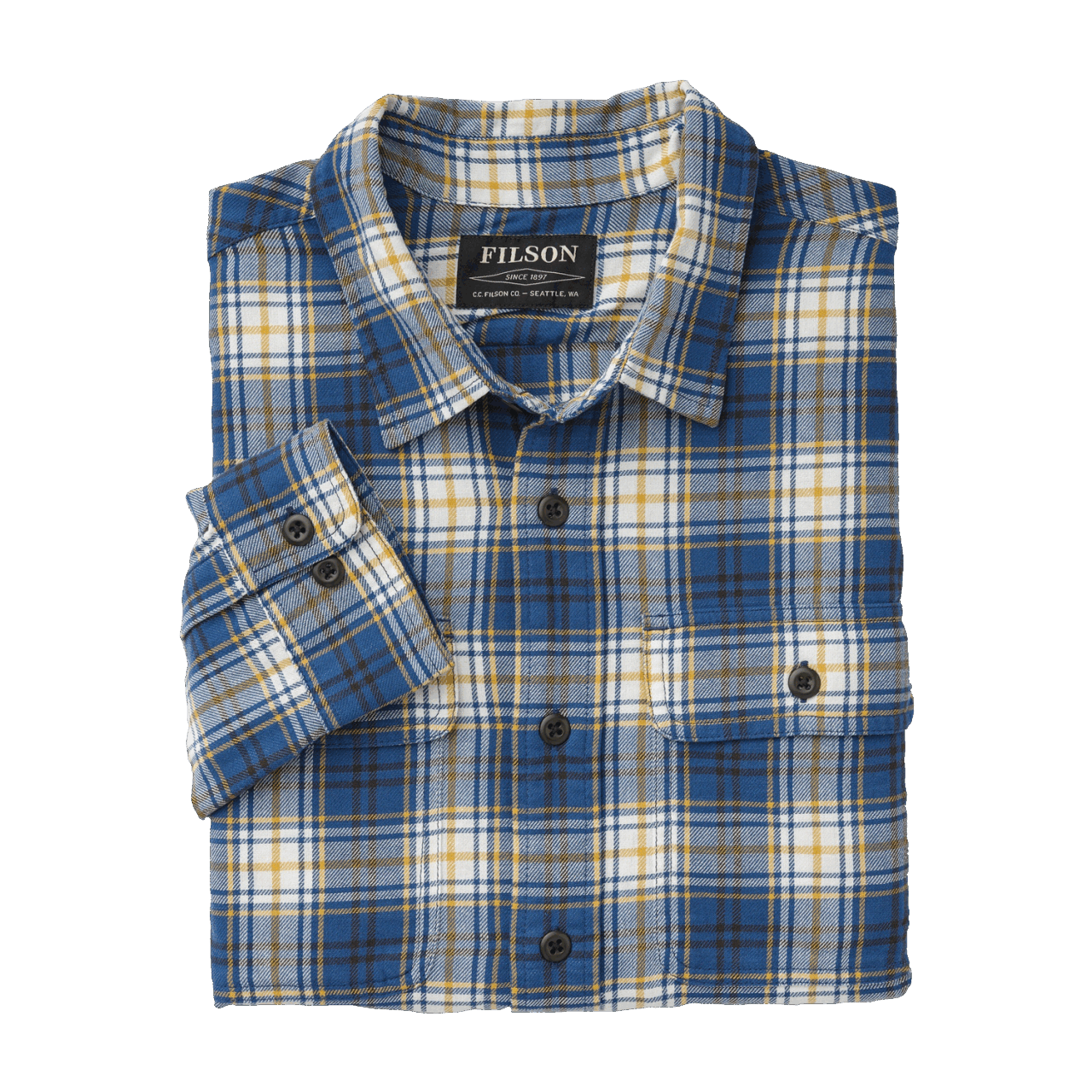 Filson Scout Shirt blue-gold-white