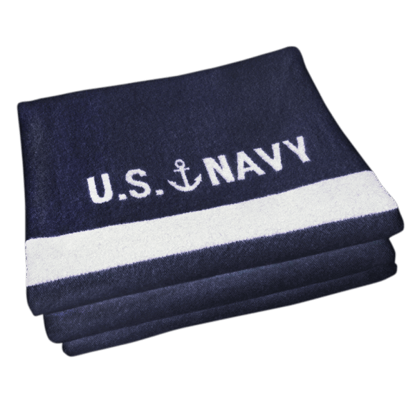 Faribault US Navy Blanket Naval / Cream 160x230cm/ 64x90 inch
