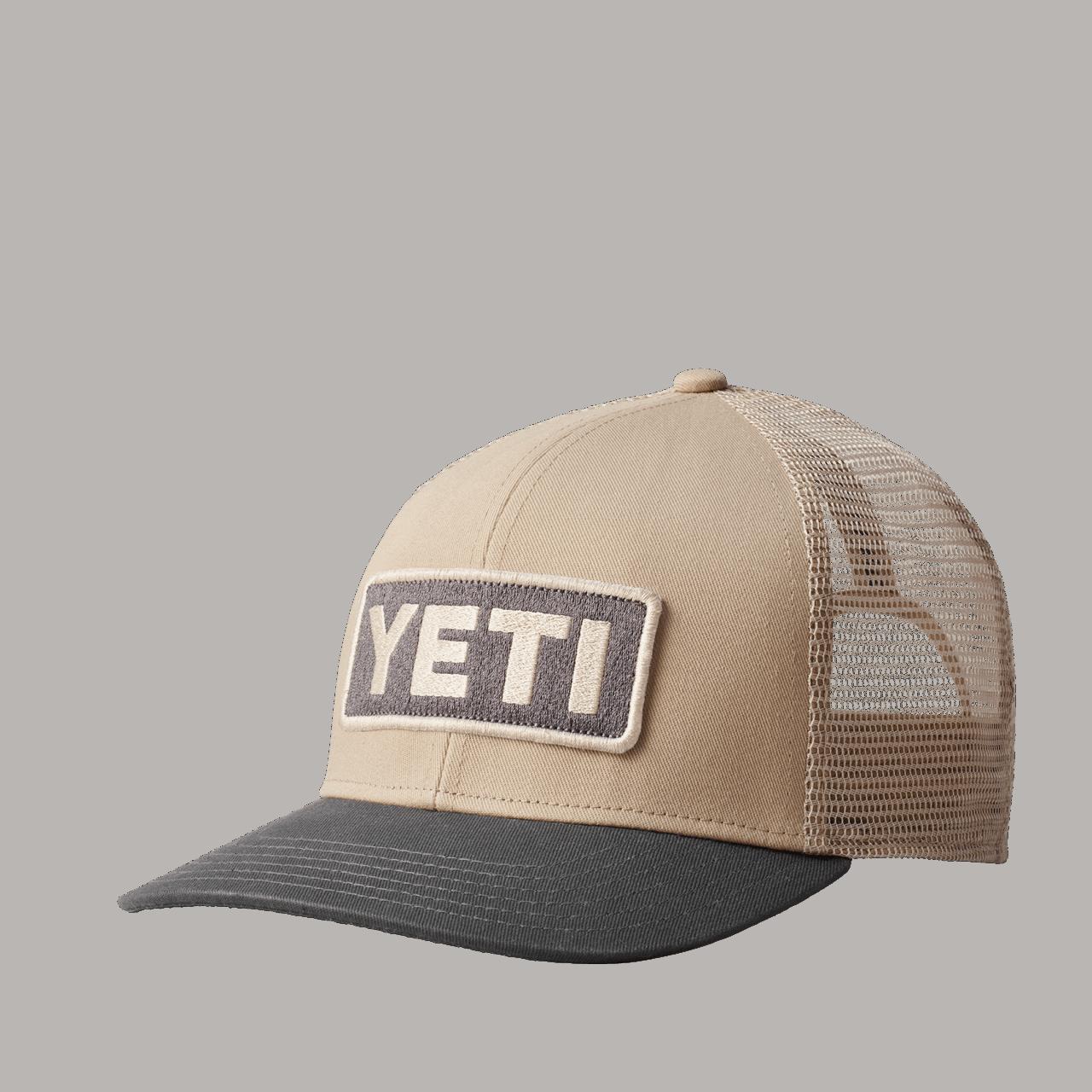 YETI Logo Badge Trucker Hat - grey/taupe