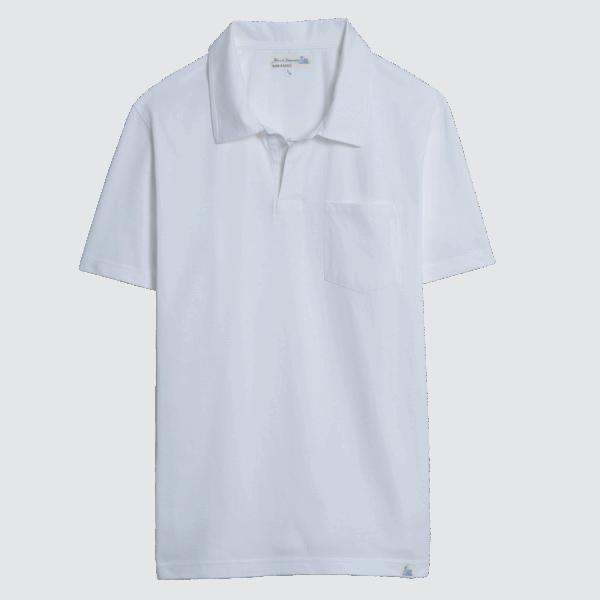 Merz b. Schwanen Pocket Polo Shirt - White