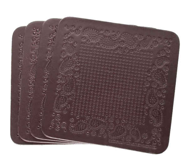 Wood & Faulk Coaster Set - Bandana brown
