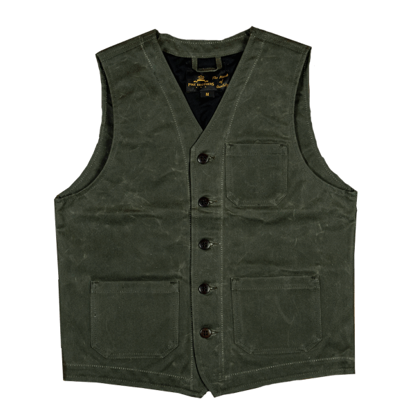 Pike Brothers 1937 Roamer Vest waxed oliv