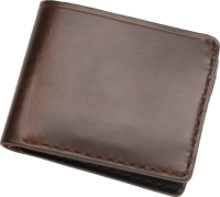Coronado Leather Horsehide 6 Card Wallet Brown