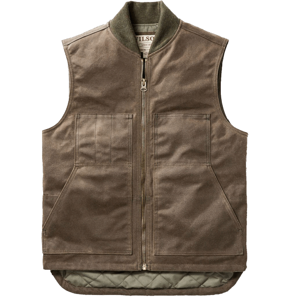 Filson Wax Work Vest - brown