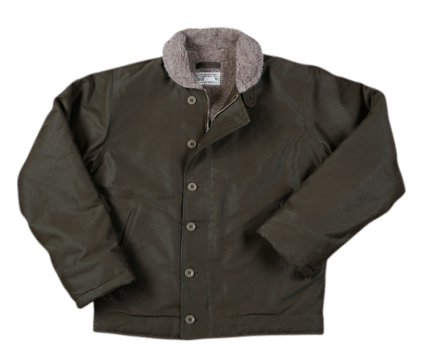 Pike Brothers 1944 N1-Deck Jacket Olive Wax