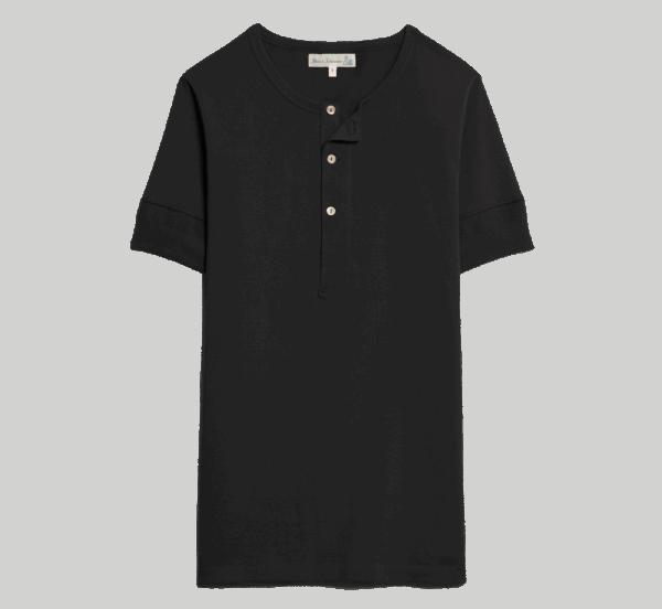 Merz b. Schwanen Knopfleisten T-Shirt 207 - schiefer