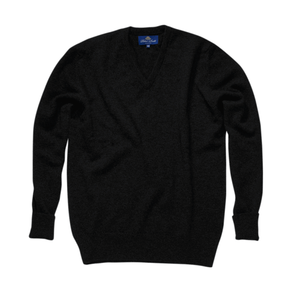 Peter Scott BRAEMAR V-Neck Pullover Black