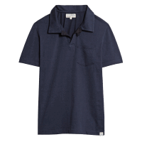 Merz b. Schwanen Pocket Polo Shirt - Deep Blue
