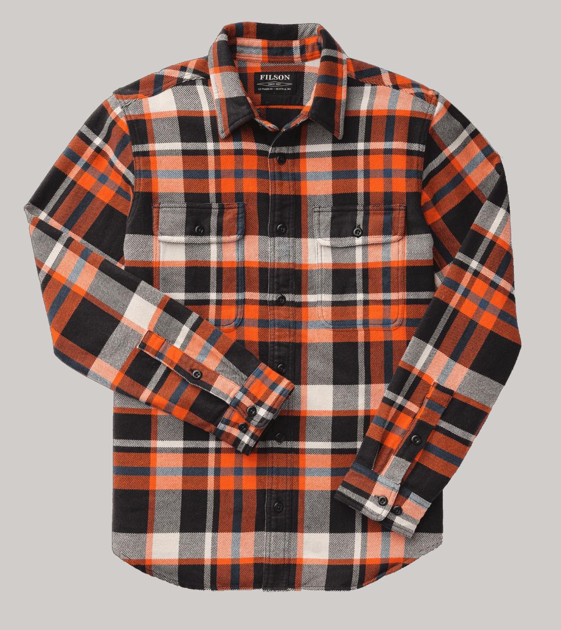 Filson Vintage Flannel Work Shirt - flame/black/blue